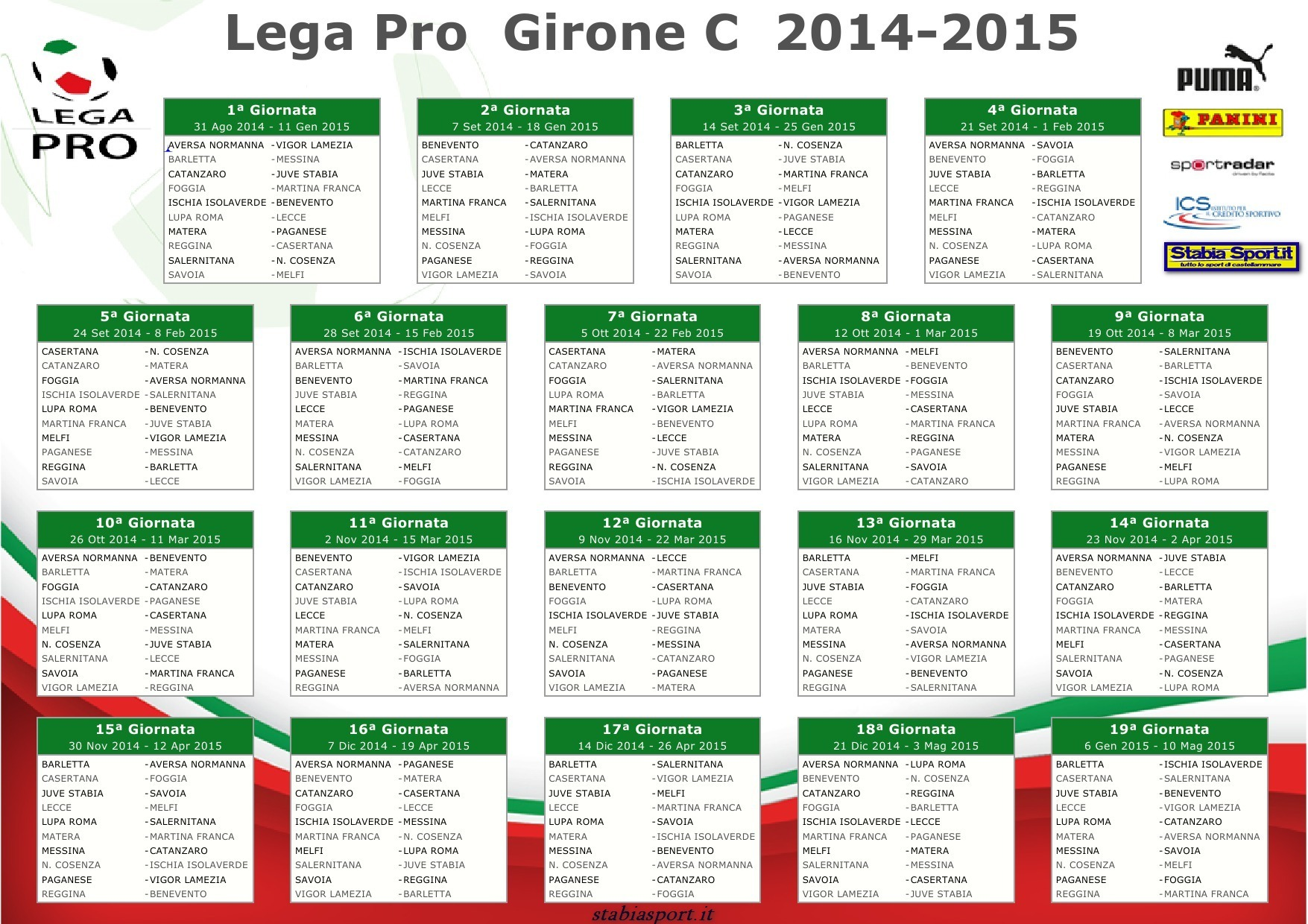 Calendario Lega Pro Lecce.Calcio Serie B Stabiasport It